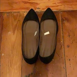 Merona black flats - like new!